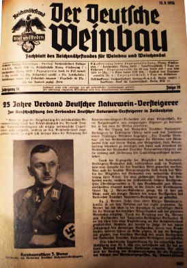 """Periódico alemán de 1935 """"Der Deutsche Weinbau"""" (La viticultura alemana)"""