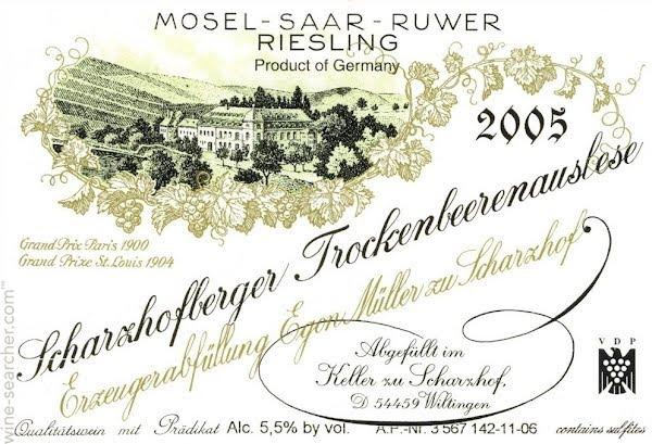 Egon Müller Riesling Scharzhofberger Trockenbeerenauslese