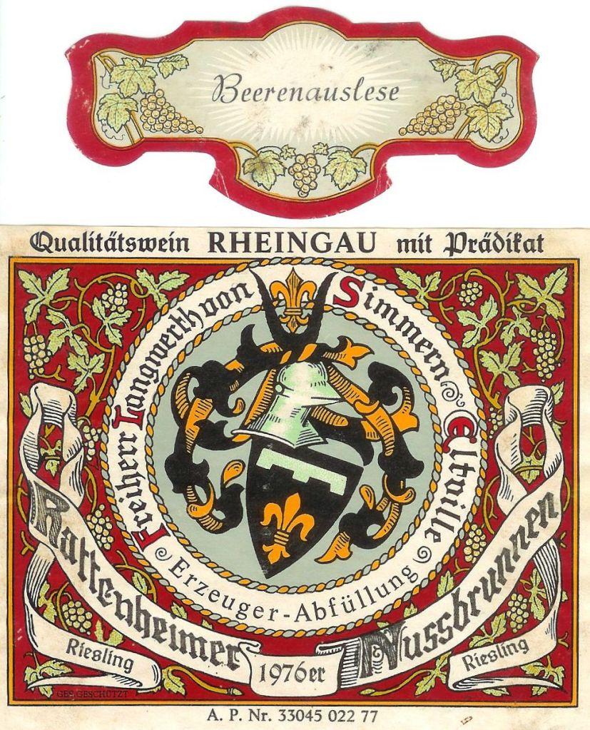 Freiherr Langwerth von Simmern Riesling Hattenheimer Nussbrunnen Beerenauslese